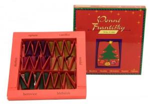 František vánoční, 6 vůní, sada 36 ks