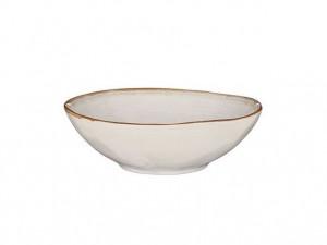 Hluboký talíř Mica TABO, keramický, glazovaný, průměr 20 cm, bílý