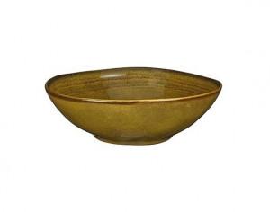 Hluboký talíř Mica TABO, keramický, glazovaný, průměr 20 cm, okrový