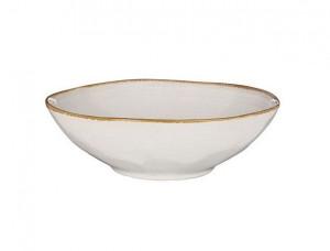 Hluboký talíř Mica TABO, keramický, glazovaný, průměr 23.5 cm, bílý