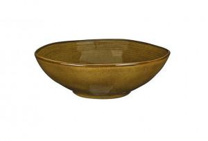 Hluboký talíř Mica TABO, keramický, glazovaný, průměr 23.5 cm, okrový
