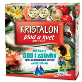 Hnojivo na KVĚTY a PLODY, Agro Kristalon, balení 0.5 kg