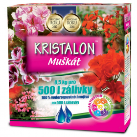 Hnojivo na MUŠKÁTY, Agro Kristalon, balení 0.5 kg
