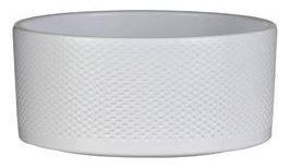 Keramická kulatá miska Mica ERA, reliéf tečky, průměr 22 cm, bílá