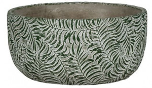 Keramická kulatá miska na květináč NDT ROTTERDAM, průměr 16.5 cm, zelená