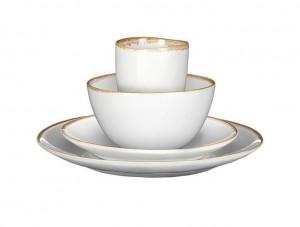 Keramické nádobí Mica TABO, sada, glazované, bílé, 16 ks