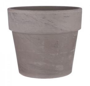 Keramický květináč Mica CARINA, průměr 13 cm, šedo - hnědý