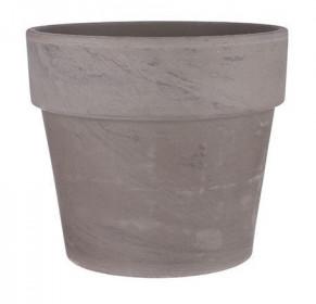 Keramický květináč Mica CARINA, průměr 24 cm, šedo - hnědý