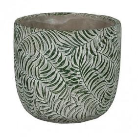 Keramický obal na květináč NDT ROTTERDAM, průměr 10.5 cm, zelený