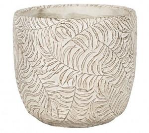 Keramický obal na květináč NDT ROTTERDAM, průměr 14 cm, krémový