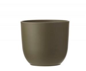 Keramický obal na květináč průměr 13,5cm - Zelený