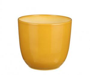 Keramický obal na květináč průměr 13,5cm - Žlutý