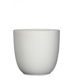 Keramický obal na květináč průměr 17cm - Bílý
