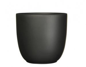 Keramický obal na květináč průměr 17cm - Černý