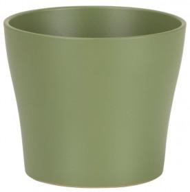 Keramický obal na květináč Scheurich 808 OLIVA, průměr 13 cm, zelený