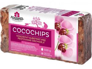 Kokosový substrát pro orchideje, Rosteto COCOCHIPS, balení 500 g