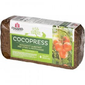 Kokosový substrát pro výsev a pěstování, Rosteto COCOPRESS, balení 900 ml