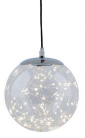 Koule svíticí, plast, 80 LED, průměr 20cm, čirá