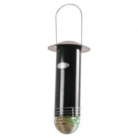 Kovové závěsné krmítko pro ptáky na lojové koule se zinkovou stříškou, Esschert Design, zelené