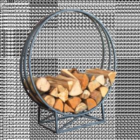 Kovový stojan na dřevo, Esschert Design, výška 90 cm, černý