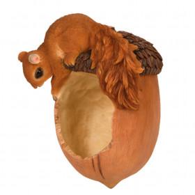 Krmítko pro veverky, Esschert Design, veverka na žaludu, vysoké 20.1 cm