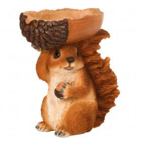 Krmítko pro veverky, Esschert Design, veverka s oříškem, vysoké 20.5 cm