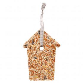 Krmivo pro ptáky, Esschert Design dům, 10.9 - 15.3 cm, lisovaný ptačí zob, 250 g
