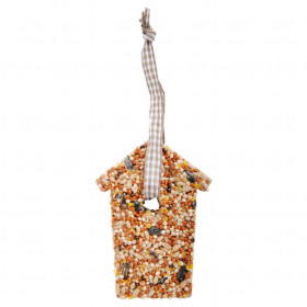 Krmivo pro ptáky, Esschert Design dům, 7 - 10 cm, lisovaný ptačí zob