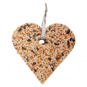 Krmivo pro ptáky, Esschert Design srdce, 10.9 - 15.3 cm, lisovaný ptačí zob, 355 g