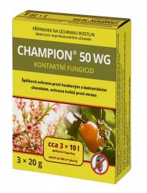 Likvidátor chorob a plísní, CHAMPION 50 WG, balení 3 x 20 g