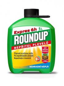 Likvidátor plevele, ROUNDUP EXPRES PREMIX 6 hod, náplň, balení 5 l