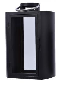 Lucerna, kov a sklo, 27x19x40cm, černá
