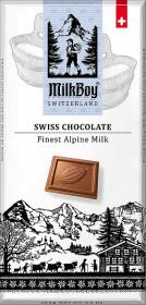 Mléčná čokoláda, Milkboy Switzerland Finest Alpine Milk, 100 g
