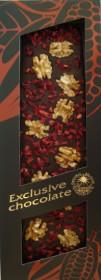 Mléčná čokoláda, Severka Exclusive chocolate s vlašskými ořechy a višněmi, 130 g