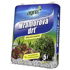 Mramorová drť Agro, velikost 4 - 7 mm, balení 5 l