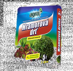 Mramorová drť Agro, velikost 7 - 14 mm, balení 5 l
