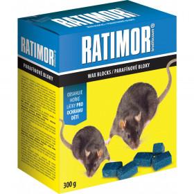 Nástraha na hlodavce, RATIMOR BRODIFACOUM, parafínové bloky, balení 300 g