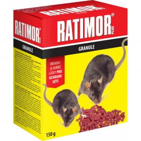 Nástraha na hlodavce, RATIMOR BROMADIOLON, granule, balení 150 g
