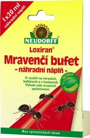 Návnada na mravence, Neudorff LOXIRAN MRAVENČÍ BUFET, náhradní náplň, balení 1 ks