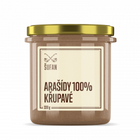 Ořechové máslo, Šufan Arašídy 100% křupavé, 330 g