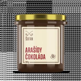 Ořechové máslo, Šufan Arašídy - čokoláda, 330 g
