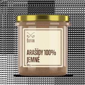 Ořechové máslo, Šufan Arašídy jemně mleté 100%, 330 g
