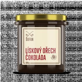 Ořechové máslo, Šufan Lískový ořech - čokoláda, 330 g