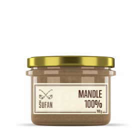 Ořechové máslo, Šufan Mandle 100%, 190 g