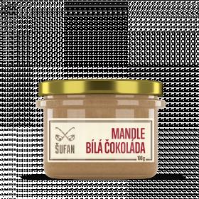 Ořechové máslo, Šufan Mandle - bílá čokoláda, dóza sklo, 190 g