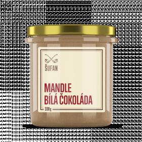 Ořechové máslo, Šufan Mandle - bílá čokoláda, dóza sklo, 330 g