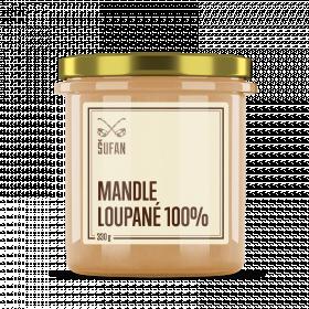 Ořechové máslo, Šufan Mandle loupané 100%, 330 g