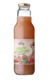 Ovocno - zeleninový mošt, Moštárna Louny Jablko Rebarbora, 750 ml