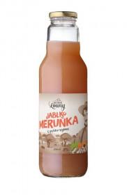 Ovocný mošt, Moštárna Louny Jablko Meruňka, 750 ml