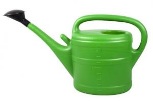 Plastová konev s kropítkem, Geli, objem 10 l, zelená